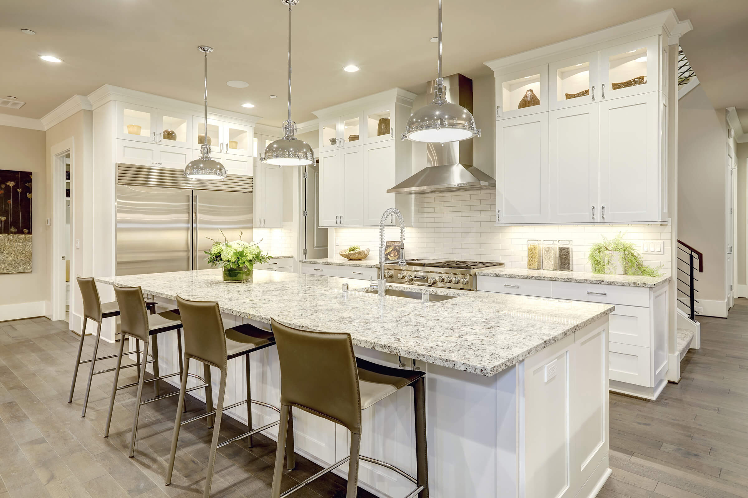 kitchen white stainless